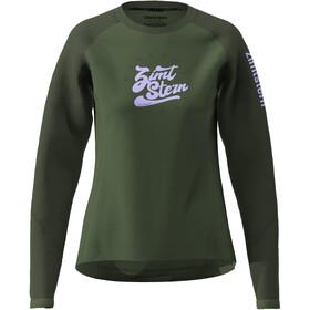 Zimtstern PureFlowz Camiseta Manga Larga Mujer, verde/Oliva